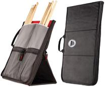 Bag de Baquetas Sabian Sitck Flip SSF12 Red Black com Fixação no Chão -