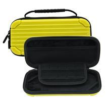 Bag Estojo Nintendo Switch Lite Capa Dura Slot para Jogos Amarelo - Ihosok