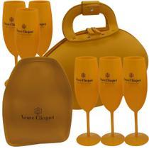 Bag Yellow Egg Exclusive + Cooler Térmico Laranja + 6 Taças - Boccati
