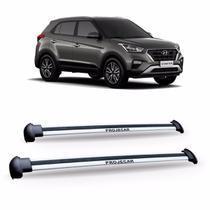 Bagageiro De Teto Hyundai Creta 2017 2018 Aluminio Prata. - Projecar