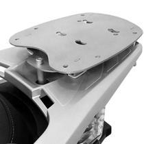 Bagageiro Rack Suporte Bau Sh 300 Honda Scam Prata -