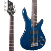 Baixo 5 Cordas Giannini GB205A SONICX Translucent Blue -