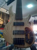 Baixo 6 cordas Cort ativo pré mark Bass  natural Ash edição limitada.-cort -