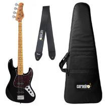Baixo Tagima Woodstock TW73 Preto 4 Cordas Jazz Bass + Capa + Correia -
