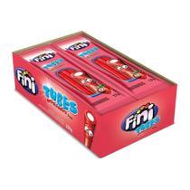 Bala fini tubes sabor morango caixa 12 peças 17g 200g -