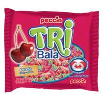 Bala Tribala Recheada Cereja 500g - Peccin -
