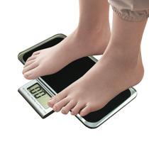 Balança Corporal Digital Vidro Temperado Preta Até 180kg - Import'S