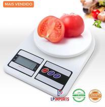 Balanca Cozinha Digital academia fitness 10kg para pesar alimentos Dieta Nutrição nutricionista fit precisão comida - Lp Imports
