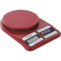 Balança de Cozinha 10kg Digital Casa do Chef Marrom/Vermelha -