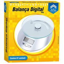 Balanca De Cozinha Art House Digital 5kg Base De Vidro -
