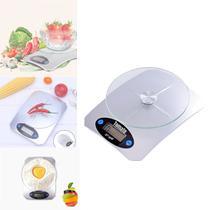 Balança De Cozinha Culinária Precisão Fitness Base de Vidro - Tomate
