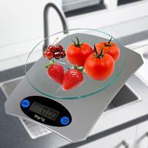 Balança de cozinha digital precisao PRATA 5 kgs CBRN01538 - Commerce Brasil