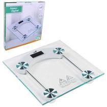 Balança de vidro digital temperado para banheiro quadrada capacidade 180 kg mais  bateria Extra - Mbfit