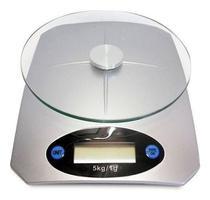 Balança Digital 1g até 5kg Cozinha Alta Precisão Alimento Vidro Temperado Praticidade KL - Mkb