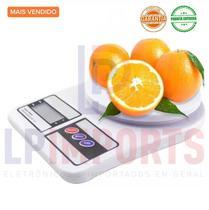 Balança Digital Alta Precisão comercial ate 10kg de pesar alimentos dieta cozinha culinária comida fitness balanca - Lp