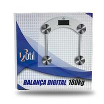 Balança Digital Banheiro Corporal Quadrada 180kg - 123Útil - 123 util