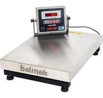 Balança Digital Comercial Plataforma Inox 300 Kg Com Bateria - BALMAK -