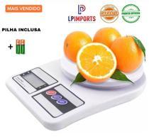 Balanca Digital cozinha  ate 10kg pesar alimento com incluso pilha academia fitness comida dieta mesa precisão - Lp Imports