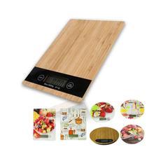 Balança Digital Cozinha Nutrição Com Alta Precisão 5kg Madeira - Yupitoys