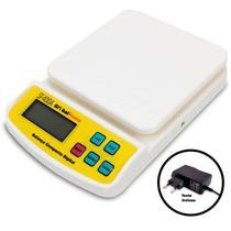 Balança Digital de Cozinha até 10kg Branca Bivolt GLOBALMIX-SF400A -