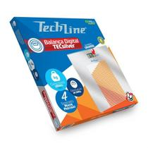 Balança Digital de Peso Corporal TechLine TECSILVER -