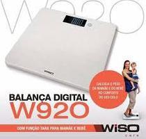 Balança Digital Especial c/ Função Tara (Pesa a Mamãe e o Bebê)  - WISO -