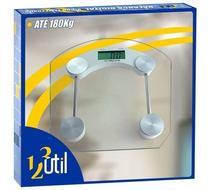 Balança Digital Quadrada De Banheiro 180kg Vidro Temperado - 123 Util