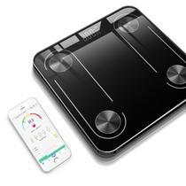 Balança digital via Bluetooth com Bioimpedancia BANHEIRO APP 180KG - PRETO - JXL