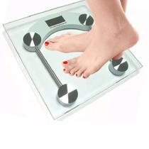 Balança Digital Vidro Temperado Banheiro Academias 180kg - HOME FLEX