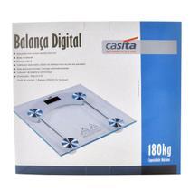 Balança Digital Vidro Temperado Para Banheiro Quadrada Capacidade 180 Kg - - Casita