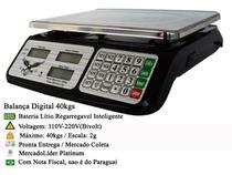 Balança Eletrônica Digital 5g até 40kg Precisão Bivolt 99 Memórias - Portátil Lançamento - Lartec