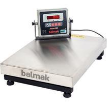 Balança Plataforma Inox 300Kg BK-300I1B com Bateria Balmak -