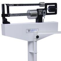 Balança Profissional Adulto Mecânica até 150kg/100g Com Régua Antropométrica  - 110ch - Welmy -
