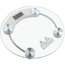 Balança Redonda Vidro Temperado 180kg Digital Banheiros Academias - Maxmidia