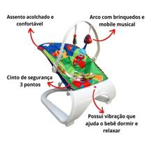 Balanço Cadeira cadeirinha Descanso Bebe Com Som E Vibração - Importway
