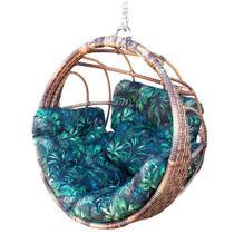 Balanço ninho confort cappuccino cadeira suspensa feita em alumínio com fibra sintética para varanda área externa área de piscina - Realize Decor