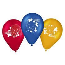 Balão Festa Sonic - 25 unidades - Regina Festas - Rizzo Embalagens e Festas -