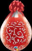 Balão Qualatex 18 R Diamante Tran Filigrana é Corações Marcados - Pioneer Qualatex