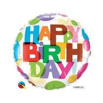 Balão Qualatex 18 R Redondo Birthday It's Your Day Bolas - Pioneer Qualatex