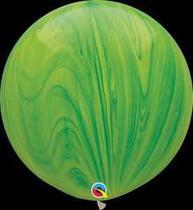 Balão Qualatex 30 R Agata Verde Super Agata - Pioneer Qualatex