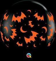 Balão Qualatex 30 R Preto Onix Morcegos é Luas - Pioneer Qualatex