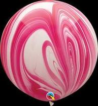 Balão Qualatex 30 R Vermelho Branco Agata - Pioneer Qualatex