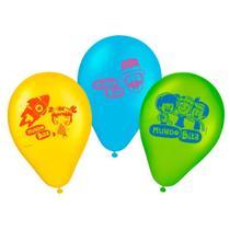 Balão R669 Número 9 Azul/ Verde/ Amarelo Mundo Bita 2 25und - Regina