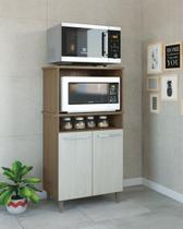 Balcão ana 2 portas para microondas e forno móveis paraná -