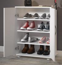 Balcão Armário Branco 2 Portas c/ Prateleiras Sapatos Quarto - Clickforte