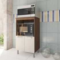 Balcão Cozinha Multiuso 65cm Marron Forno E Microondas - Stx Móveis