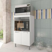 Balcão Cozinha Multiuso Pop 65cm Branco Forno E Microondas - Stx Móveis