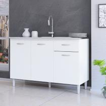 Balcão de Cozinha 3 Portas 1 Gaveta A434 Poquema -