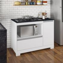 Balcão de Cozinha Amanda para Cooktop 5 bocas 1 Porta 1 Gaveta Branco - NOTAVEL