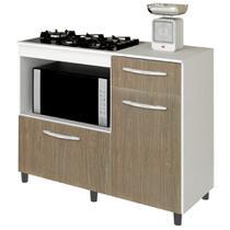 Balcão de Cozinha Mali para Cooktop e Forno Microondas - Lumil Móveis -